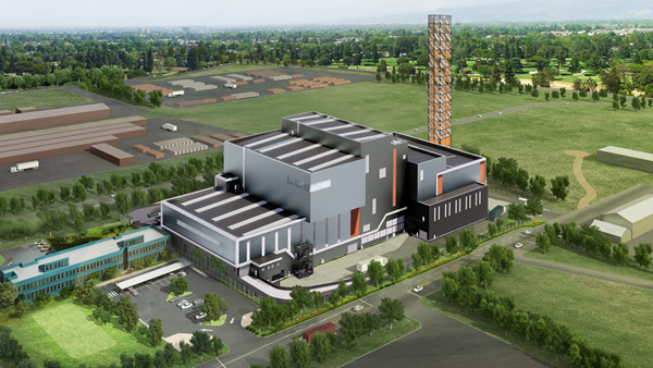 Visualisation of the waste-to-energy facility in Kwinana
