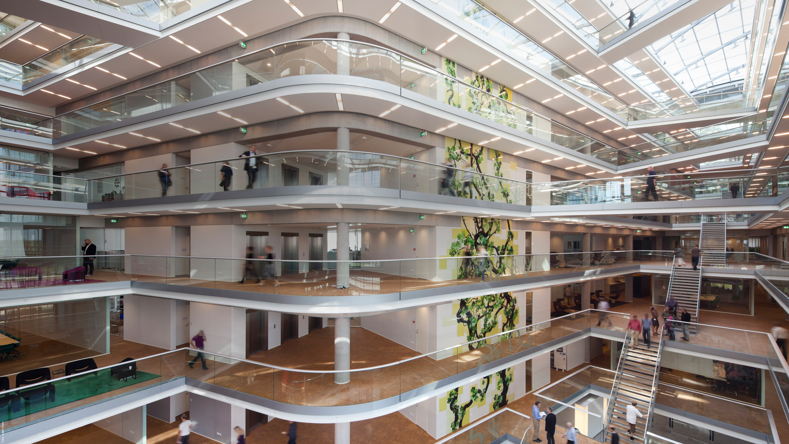 Acoustics is an important feature of the new Ramboll Domicile in Ørestad