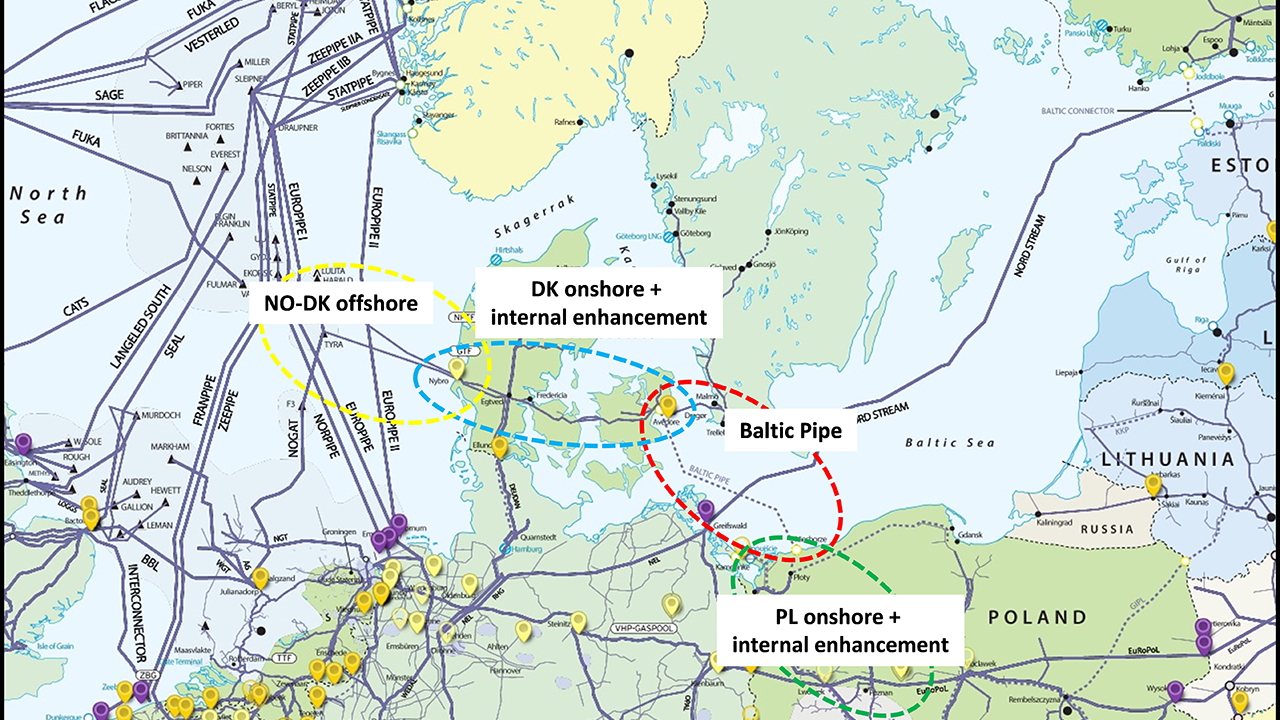 Baltic Pipe map
