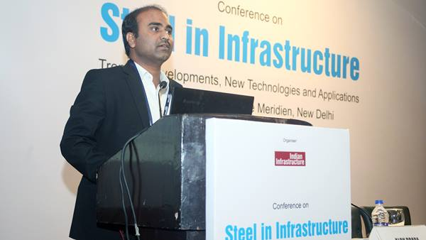 Sankara Ganesh speaks at the India infrastructure conference