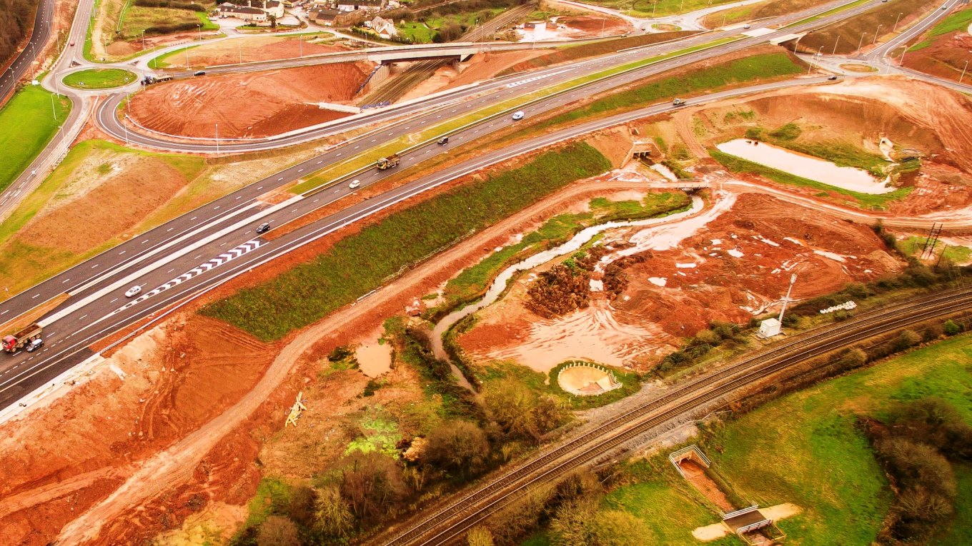 Aller Tunnel, A380 road scheme in Devon UK, designed by Ramboll. Photo: Devon County Council