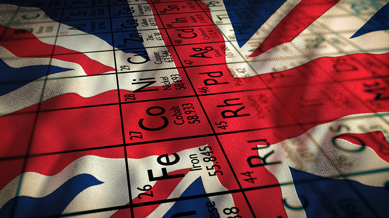 union jack with the periodic table